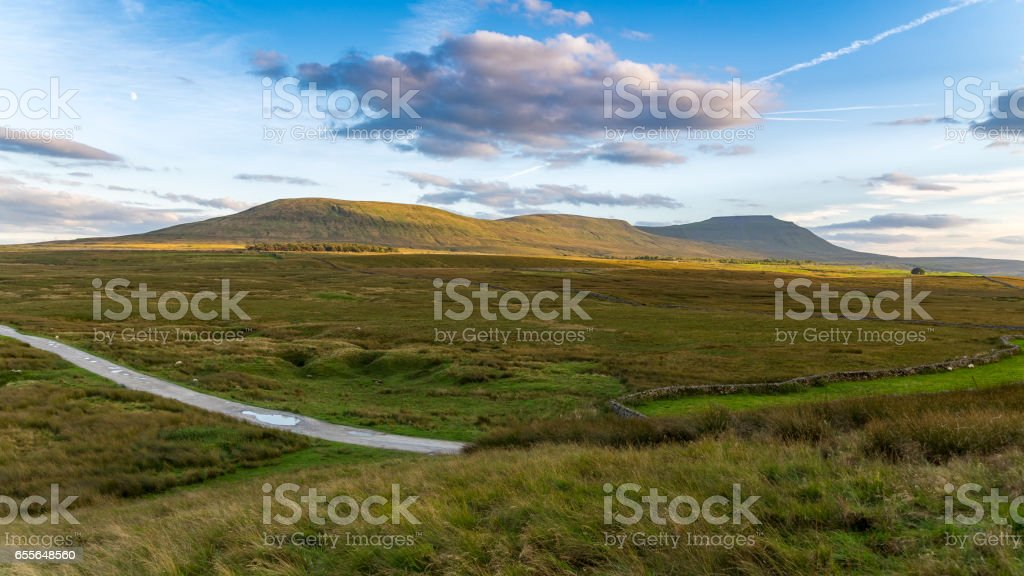 Yorkshire Dales near Ribblehead, North Yorkshire, UK stock photo