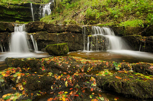 Yorkshire Dales - Settle Waterfall stock photo