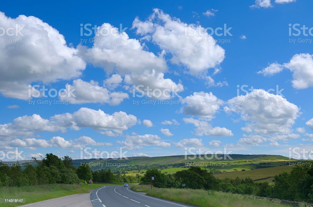 Yorkshire Summer Driving Scenic royalty-free stock photo