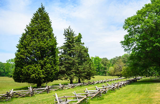 Yorktown Battlefield Yorktown Battlefield Monuments British War Battle battlefield stock pictures, royalty-free photos & images
