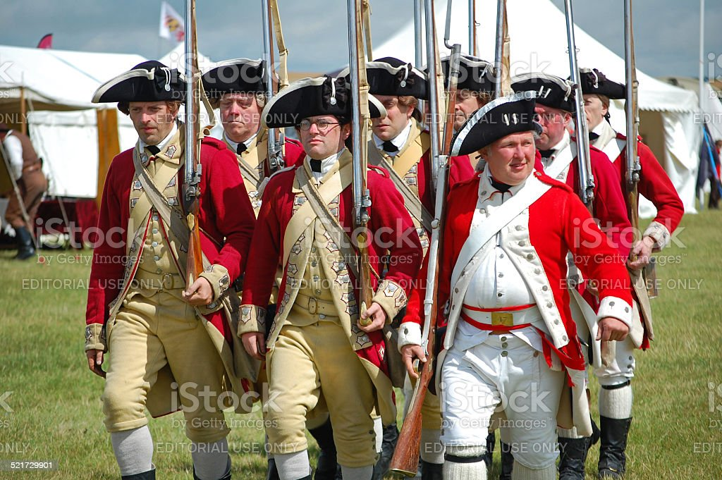 Yorktown British Army stock photo