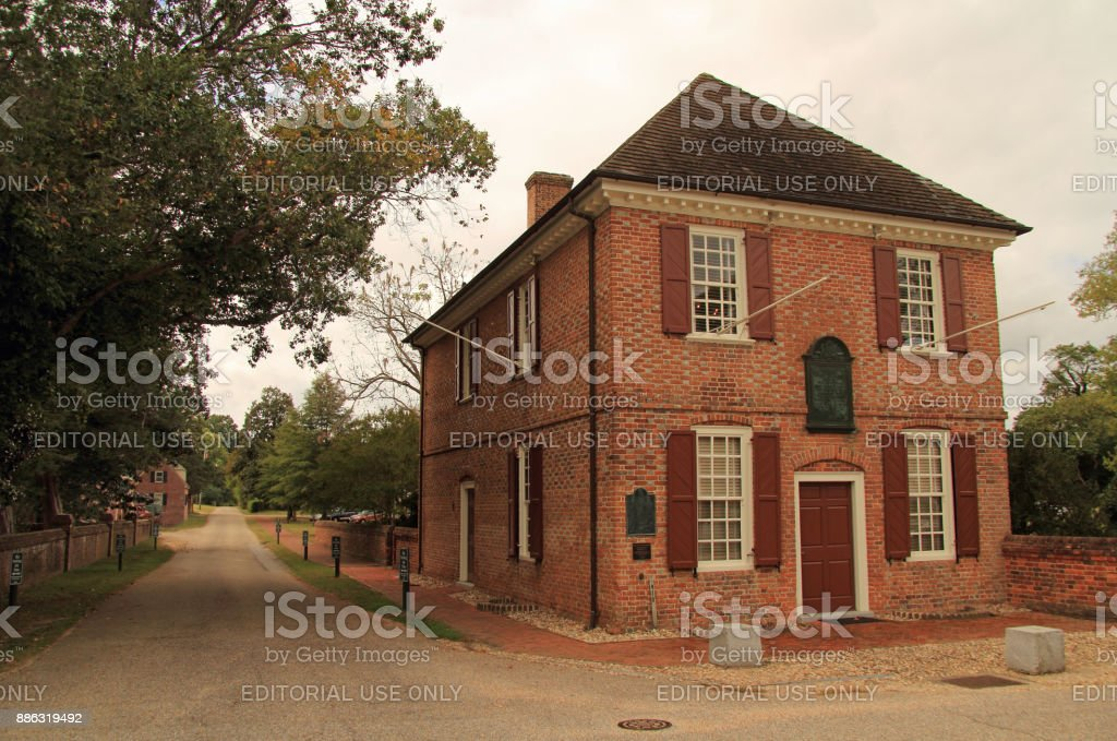 Yorktown Custom House stock photo