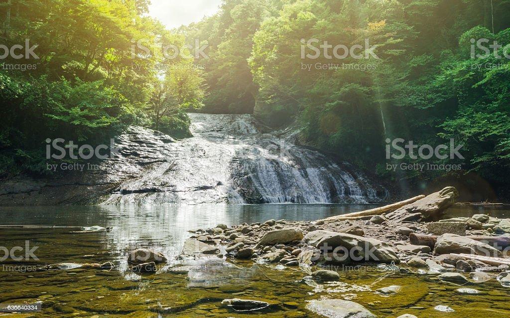yoro keikoku valley waterfall in Chiba Prefecture, Japan stock photo
