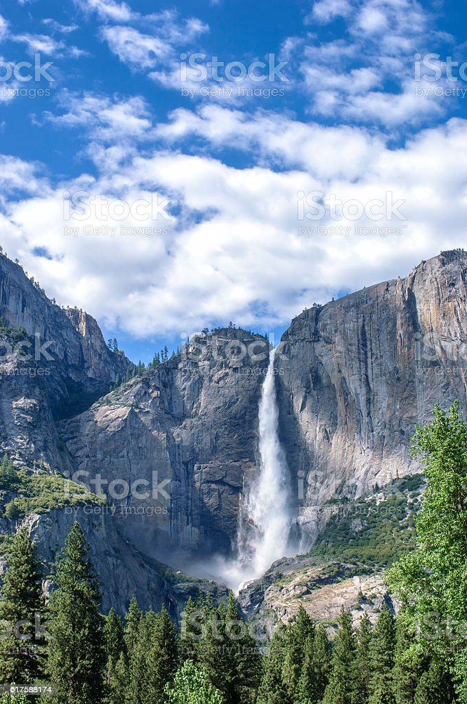 Yosemite Fall in the Spring stock photo