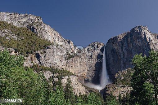 Yosemite Falls in Yosemite National Park, California.