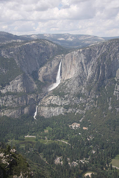 Yosemite Falls and the Valley stock photo