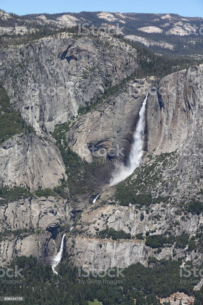 Yosemite Falls in Yosemite National Park. California. USA stock photo
