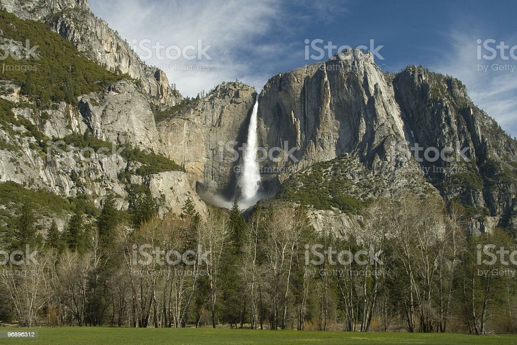 Yosemite Falls rainbow royalty-free stock photo