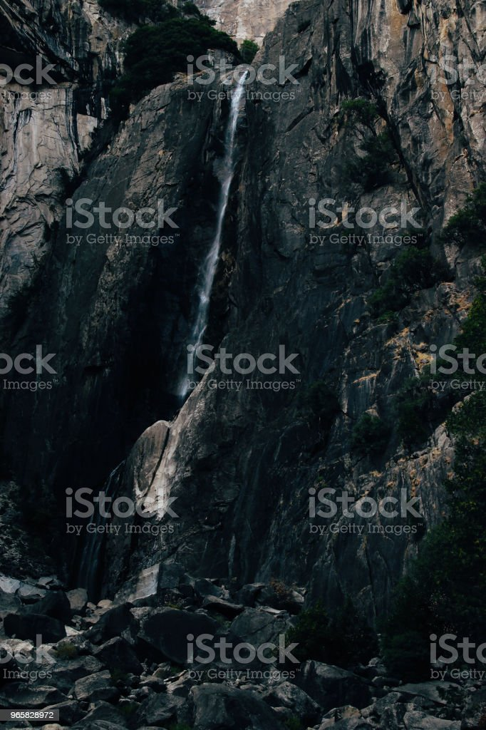 Yosemite falls with no water in autumn Yosemite National Park - Royalty-free Autumn Stock Photo