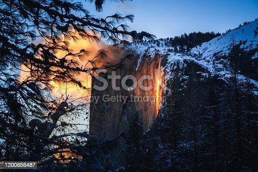 Yosemite Firefall at Sunset, Yosemite National Park, CA