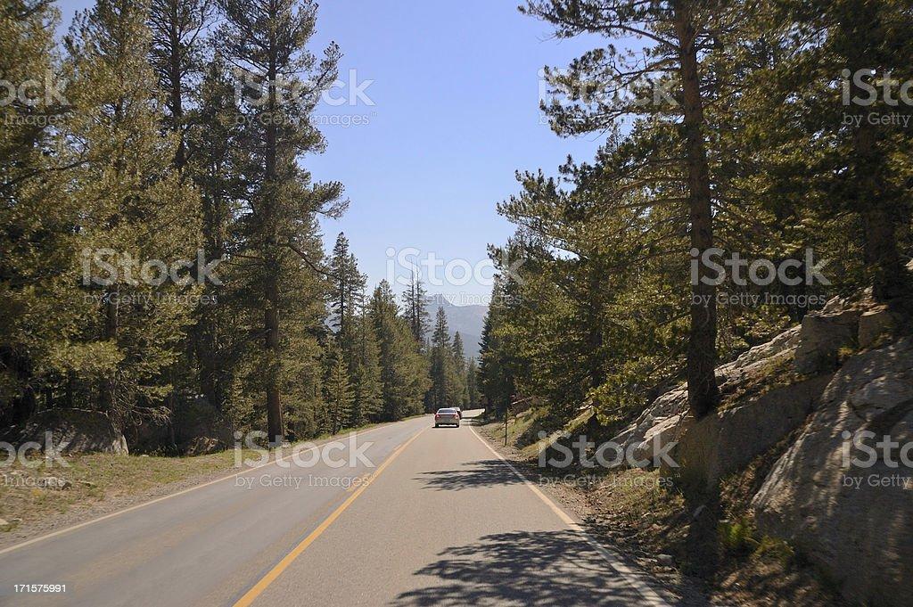 Yosemite National Park Drive royalty-free stock photo