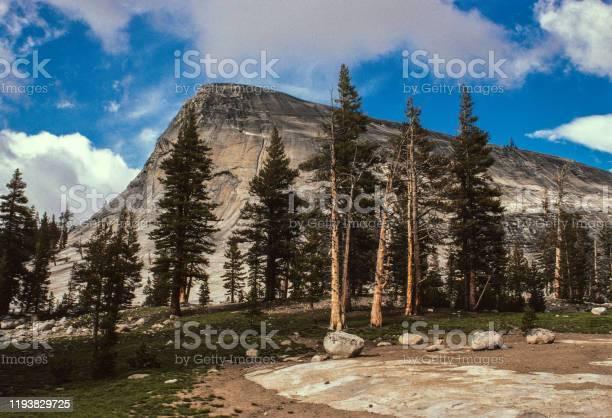 Yosemite National Park High Country Granite Peak - 1978