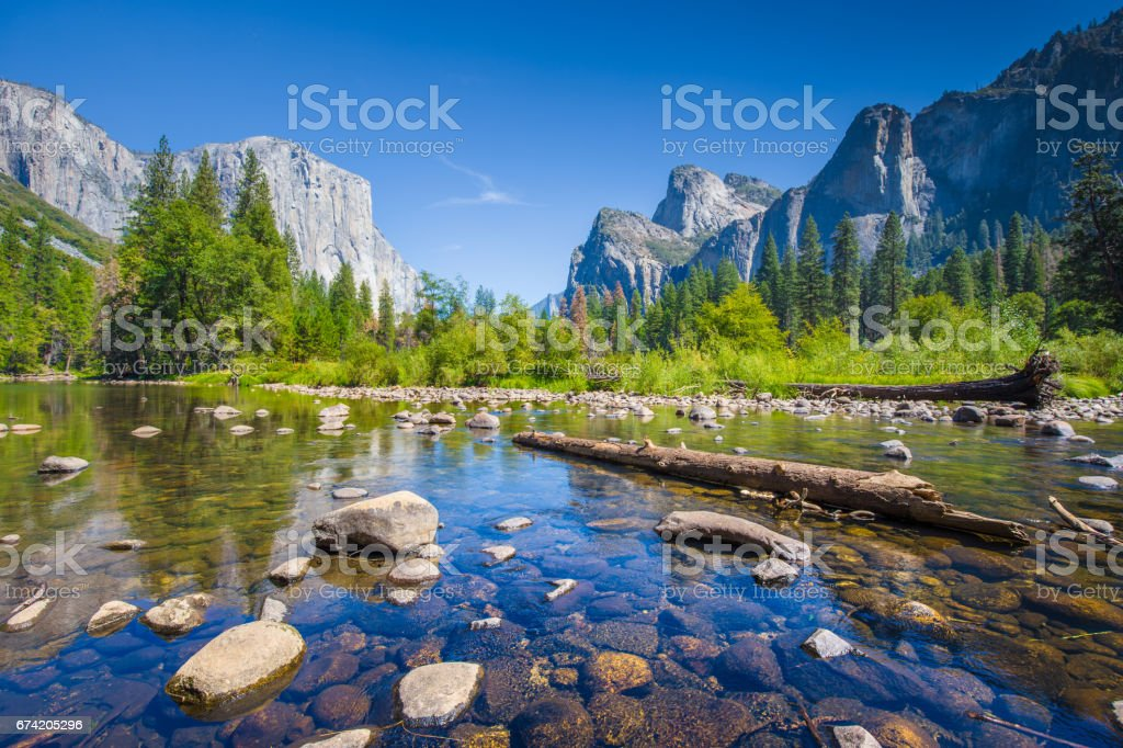 Yosemite National Park in summer, California, USA stock photo