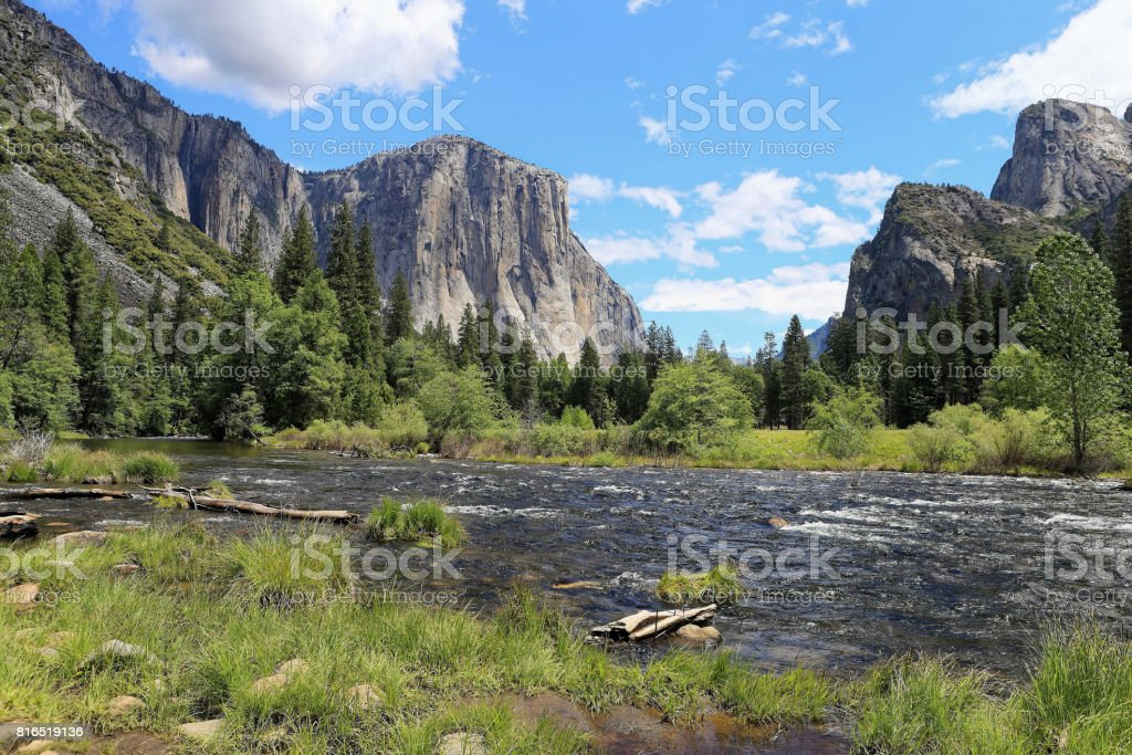 Yosemite National Park in summer stock photo