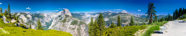 Yosemite National Park Panorama Taken from Observing Point. California