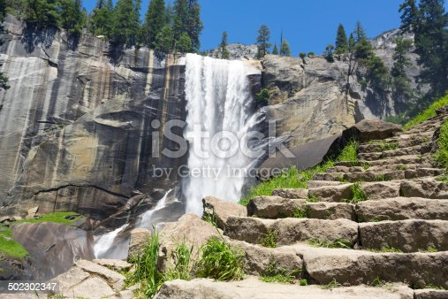Mist trail leading to Vernal fall
