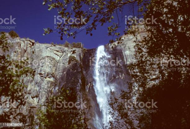 Yosemite National Park Waterfall Close-up - 1995