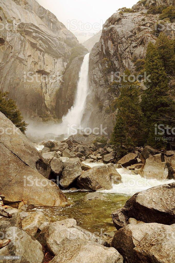 Yosemite National Park waterfall royalty-free stock photo