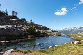 Descending Donahue Pass in Yosemite National Park, along the John Muir Trail.