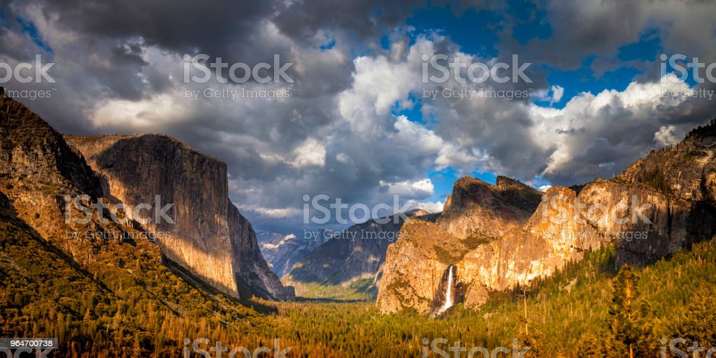 Yosemite National Park's Tunnel View royalty-free stock photo