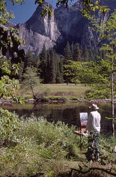 Yosemite Painter stock photo