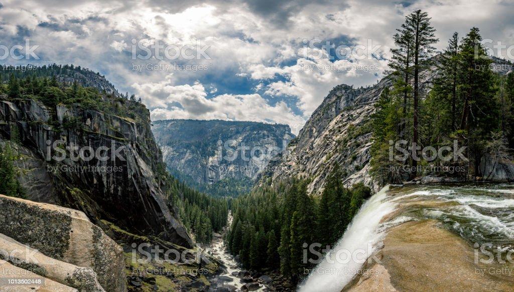 Yosemite Park Hiking trail in Yosemite Park. Adventure Stock Photo