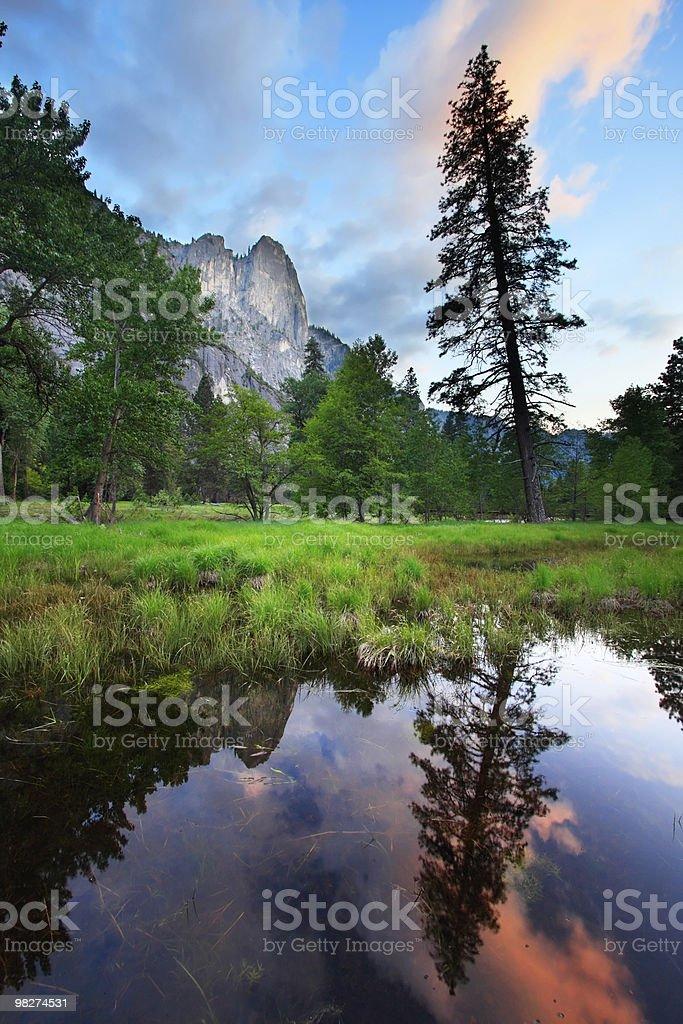 Yosemite Sunset Reflections royalty-free stock photo