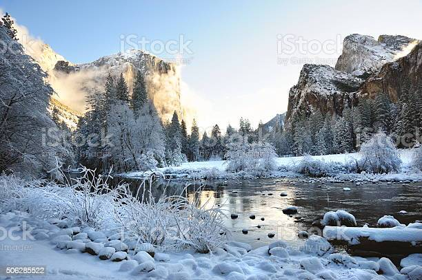 Photo of Yosemite Valley After a Fresh Snow