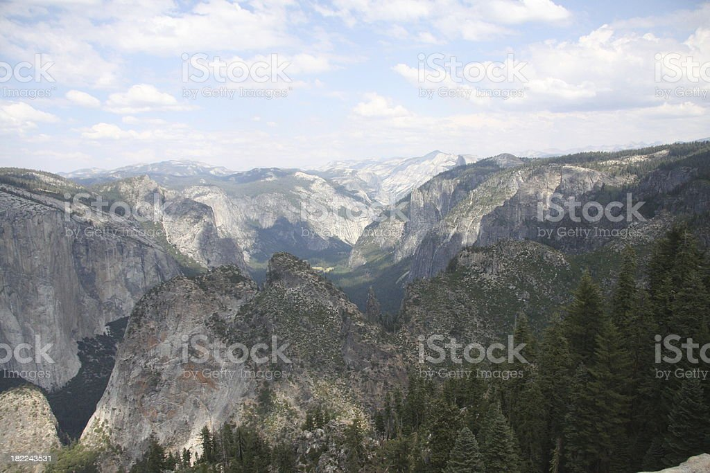 Yosemite Valley and Rim Mountains stock photo