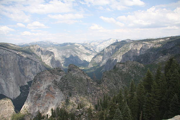 Yosemite Valley and Rim Mountains stock photo