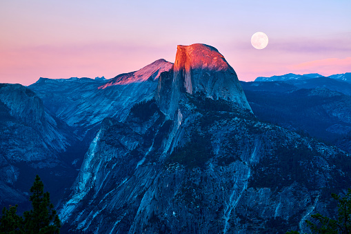 Yosemite Valley at Sunset, California, USA