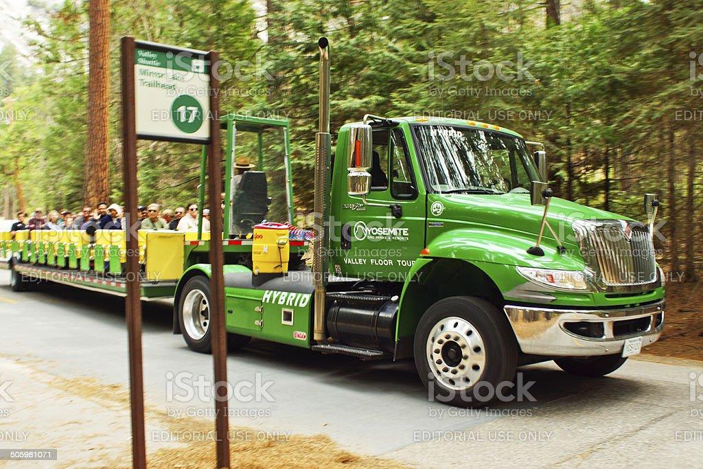... Yosemite Valley Floor Tour Stock Photo ...