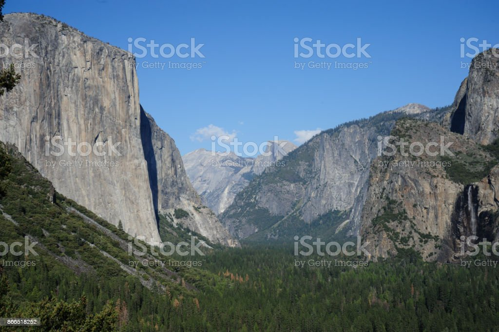 Yosemite Valley from Tunnel View stock photo