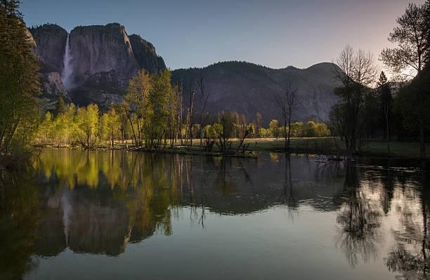 Yosemite Valley in Spring stock photo