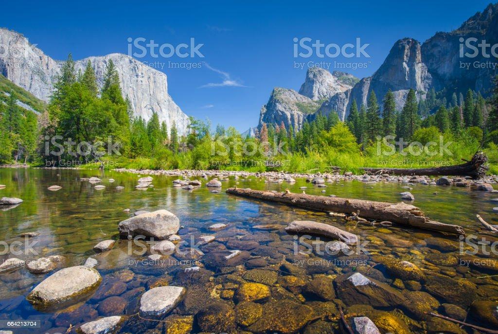 Yosemite Valley in summer, California, USA stock photo