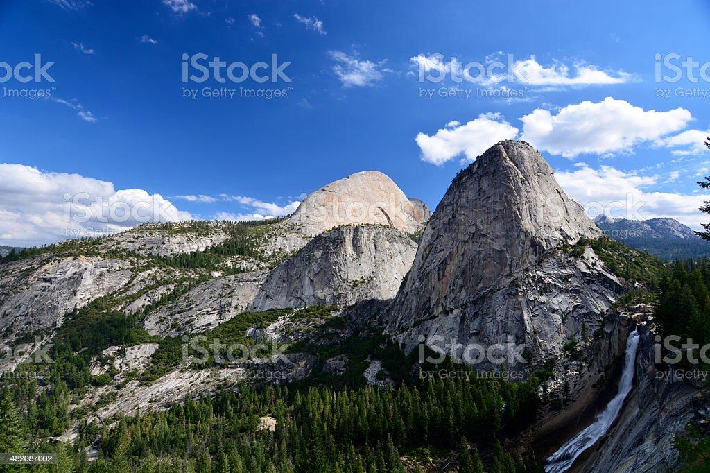 Yosemite valley in Yosemite National Park on sunny day stock photo