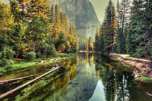 Yosemite Valley Landscape and River, California