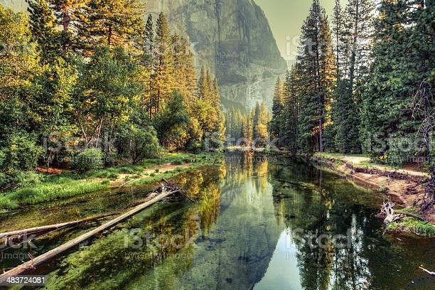 Photo of Yosemite Valley Landscape and River, California