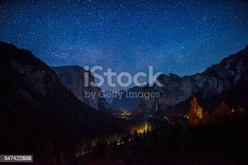 Night view of Yosemite Valley   California
