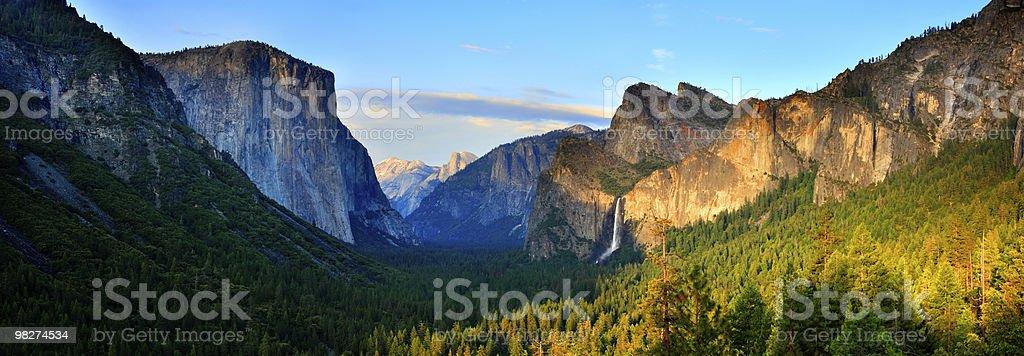 Yosemite Valley Panorama royalty-free stock photo