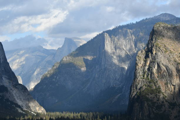 yosemite valley with dramatic shadows - steven harrie stock pictures, royalty-free photos & images