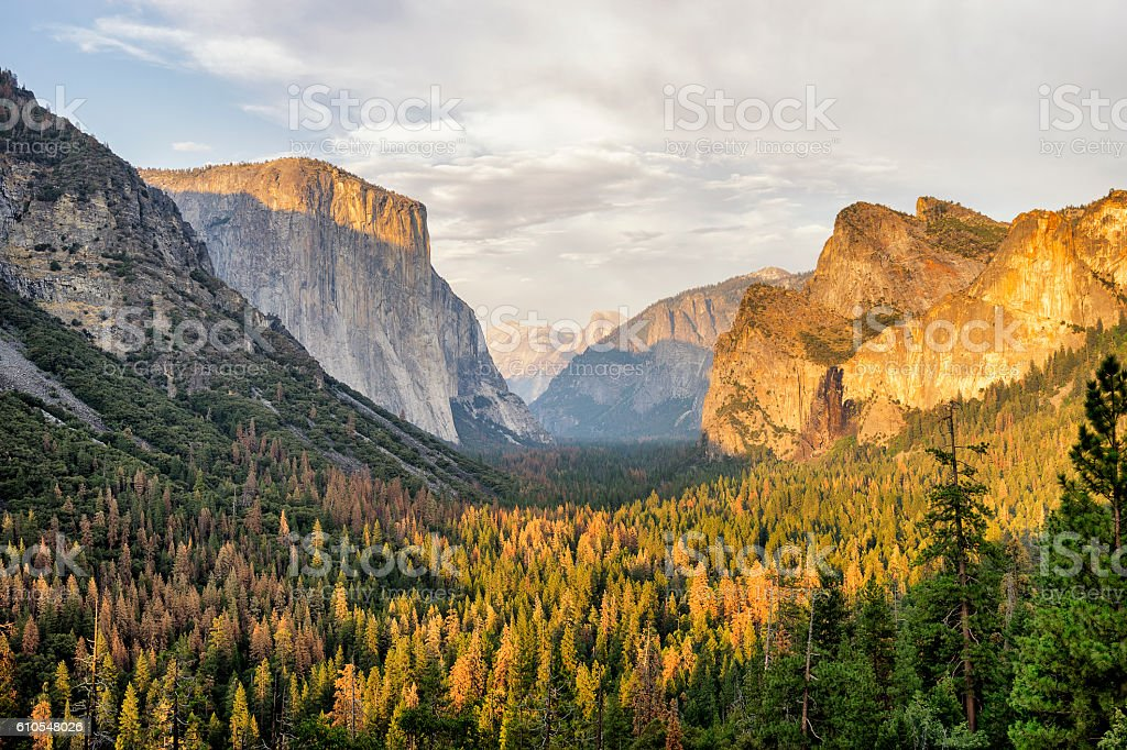 Yosemite View in California stock photo
