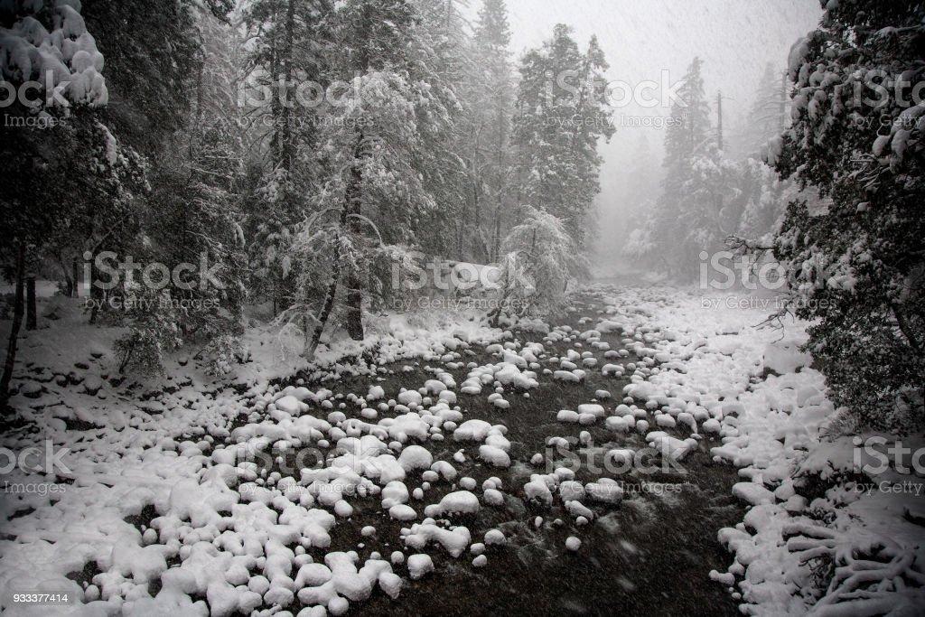 Yosemite Winter stock photo