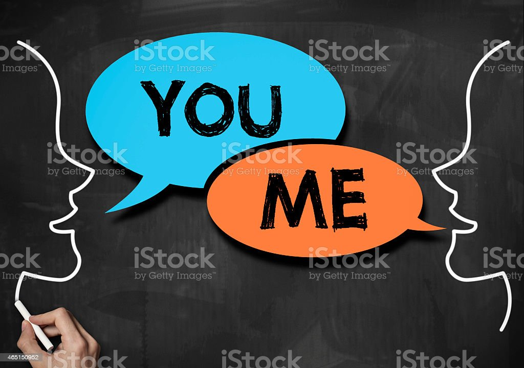You and me / Blackboard concept (Click for more) stock photo