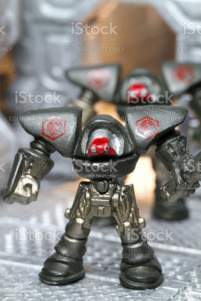 You and Which Tiny Robot Army royalty-free stock photo