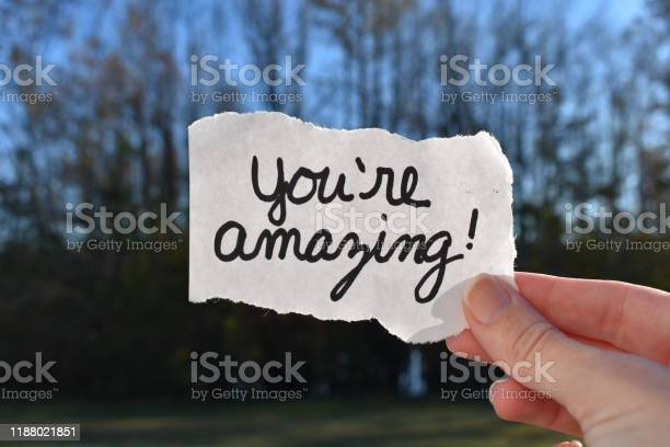 Photo of You are amazing note
