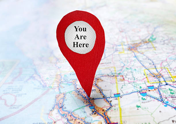 You Are Here locator stock photo