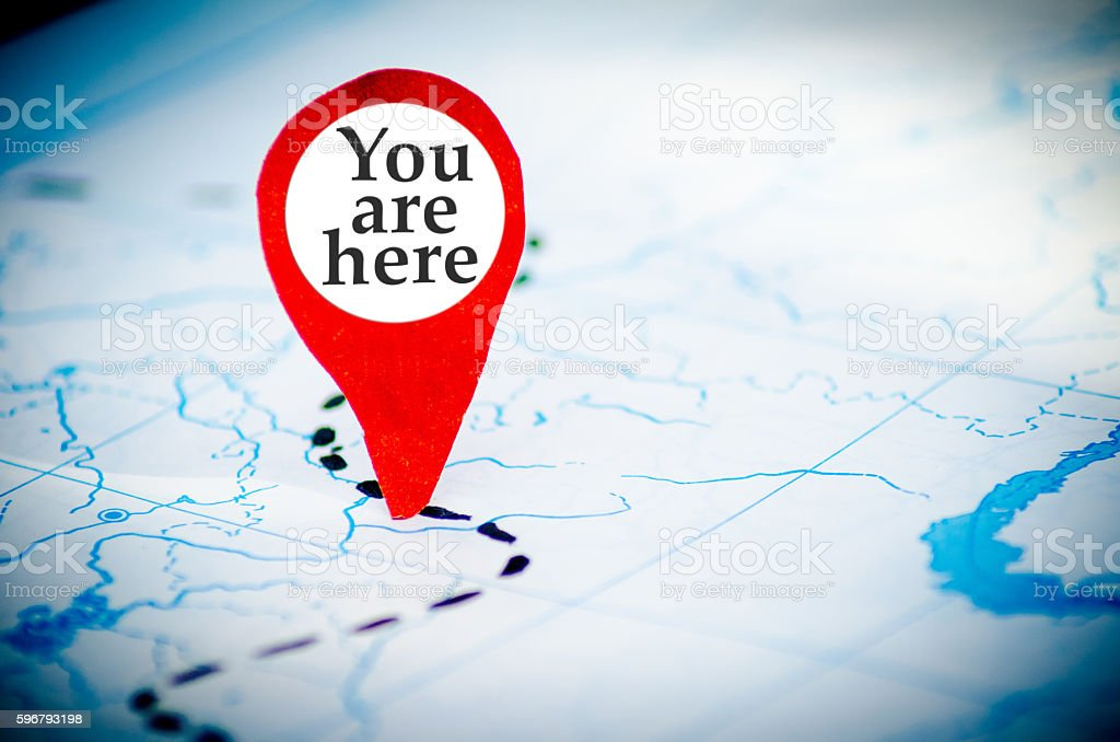 you are here map stock photo