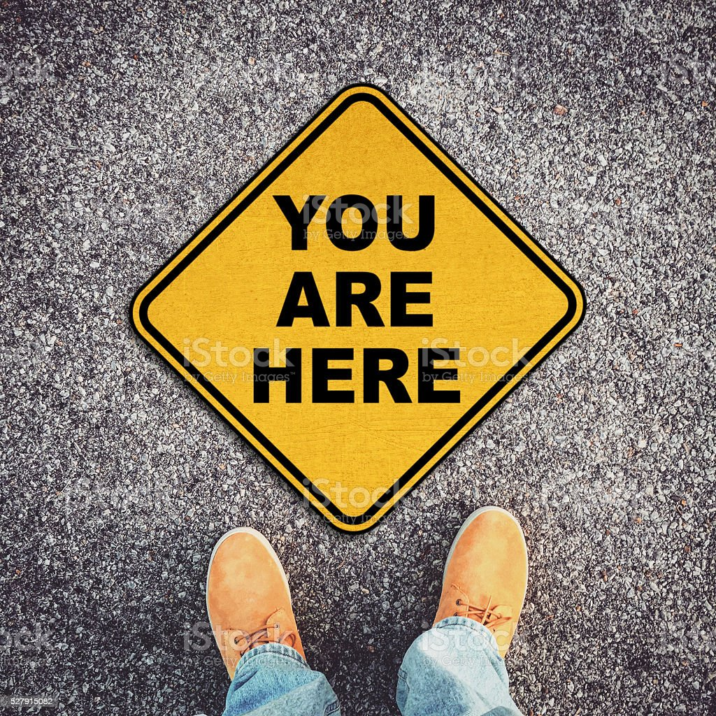 You Are Here stock photo
