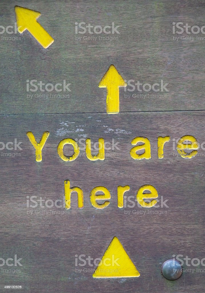 You are here sign stock photo